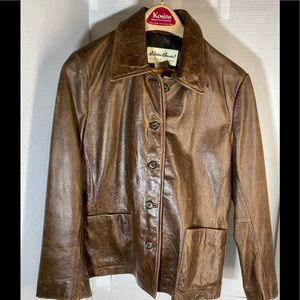 Eddie Bauer Womens Leather Jacket Size S